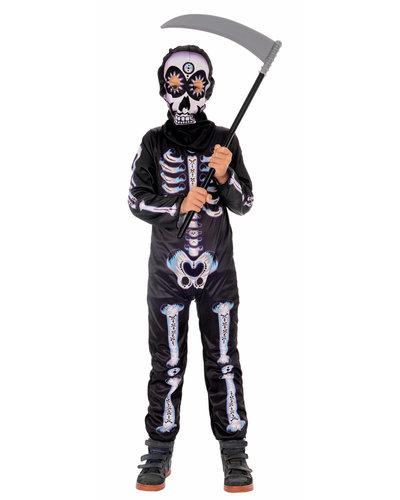 Magicoo Mexikanisches Skelett Kostüm für Kinder