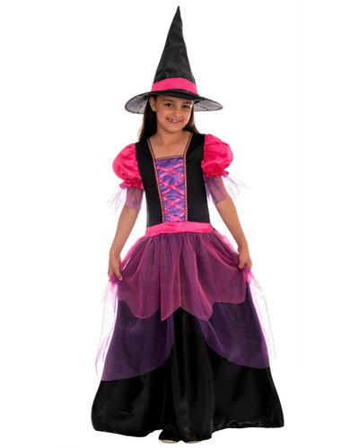 Magicoo Zauberhexe Hexenkostüm für Mädchen