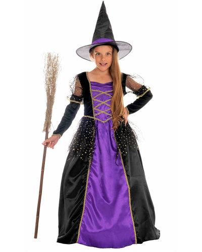 Magicoo Prinzessin Hexenkostüm für Mädchen violett