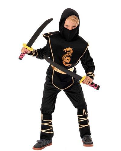 Magicoo Ninja Kostüm goldener Drachen für Kinder