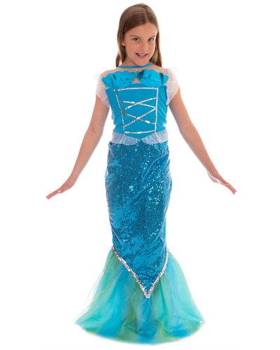 Magicoo Glitzer Meerjungfrau Kostüm für Mädchen