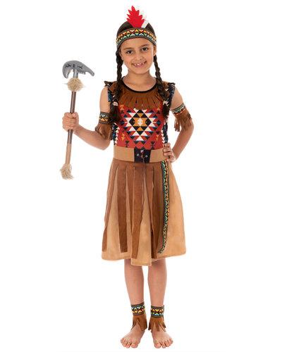 Magicoo Azteken Indianerin Kostüm für Mädchen