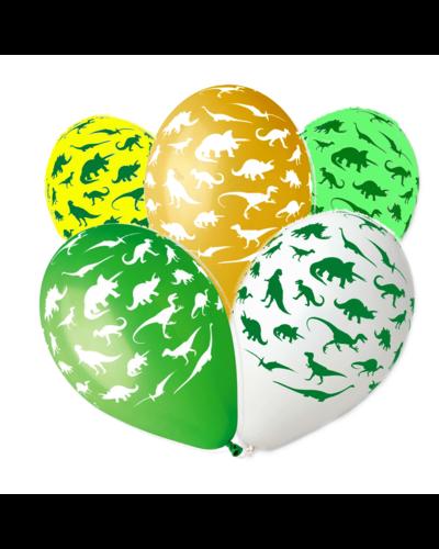 Magicoo Luftballons Dinos - 5 Stück - 30 cm groß