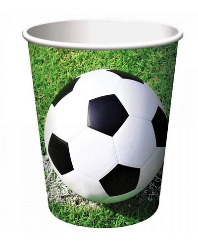 Magicoo 8 Papierbecher - Fußball