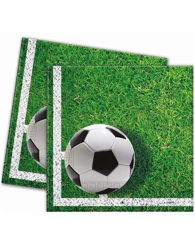 Magicoo 20 Servietten Fußball grün