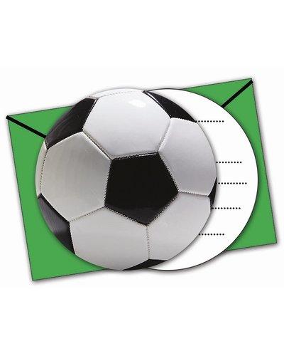 Magicoo Einladungen mit Umschlägen - Fußball Party
