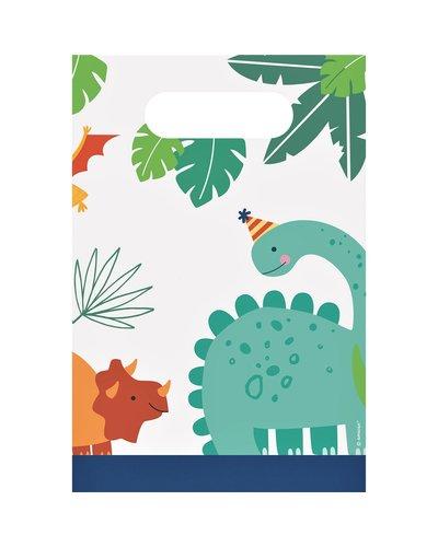 Magicoo 8 Papier Geschenktüten Dino Roarr