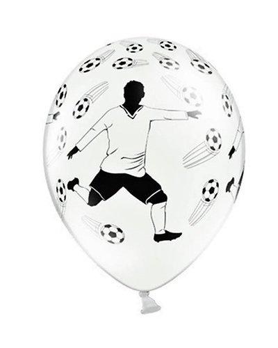 Magicoo 6 Latexballons Fußballer 30cm