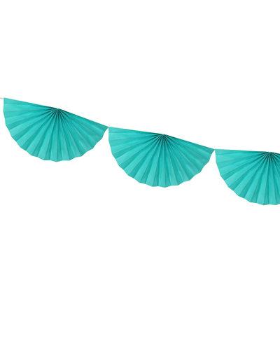 Magicoo Papierfächergirlande Türkisblau