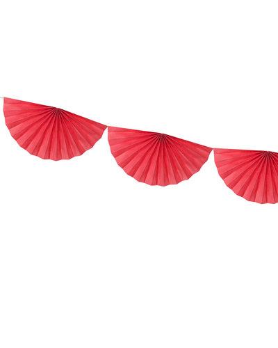 Magicoo Papierfächergirlande Rot