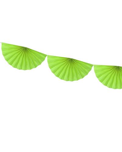 Magicoo Papierfächergirlande Grün