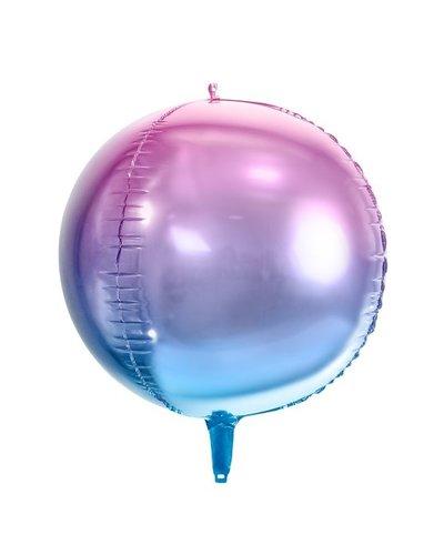 "Magicoo Kugel-Folienballon ""Ombre"" - blau-lila"