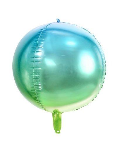 "Magicoo Kugel-Folienballon ""Ombre"" - blau-grün"