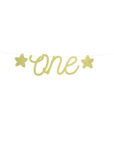 "Magicoo Girlande ""ONE"" Gold aus Glitzerpapier"