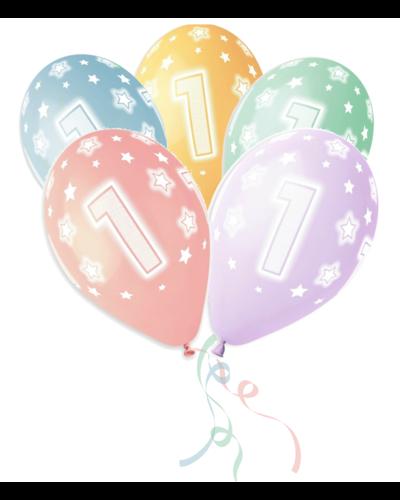 Magicoo 5 bunte Latexballons 1. Geburtstag