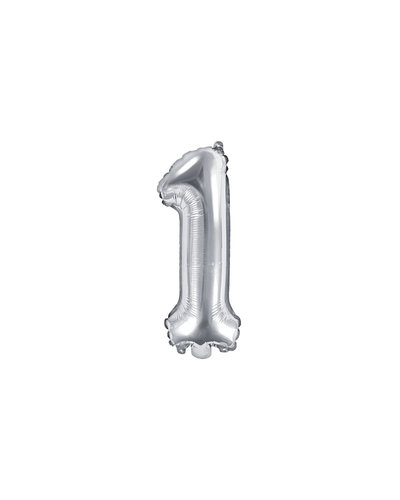 "Magicoo Folienballon Zahl ""1"" Silber - 35 cm"