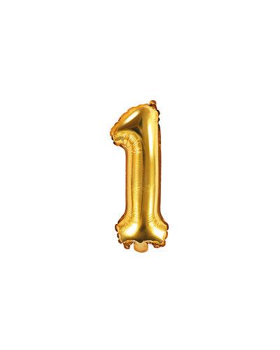 """Magicoo Folienballon Zahl """"1"""" Gold - 35 cm"""