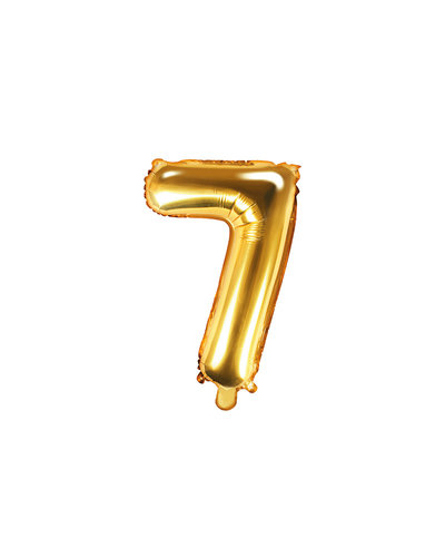 """Magicoo Folienballon Zahl """"7"""" Gold - 35 cm"""