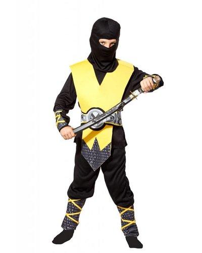 Magicoo Ninja Kinderkostüm Cobra gelb-schwarz