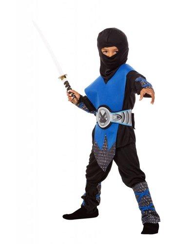 Magicoo Ninja Kinder-Kostüm blau schwarz