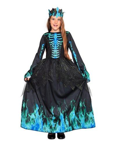 Magicoo Skelett Eiskönigin Kostüm für Kinder