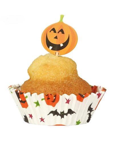 Magicoo 24 Halloween Muffinformen & Party Picker