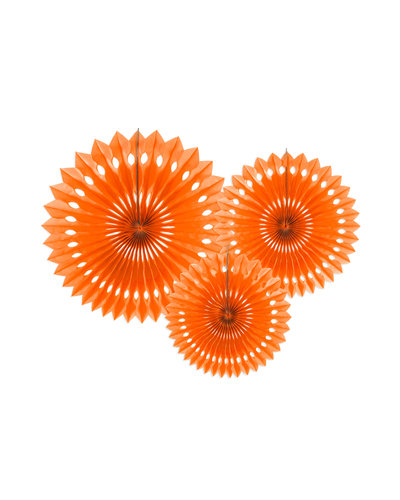 Magicoo 3 Papierfächer in 3 Größen orange 20-30cm