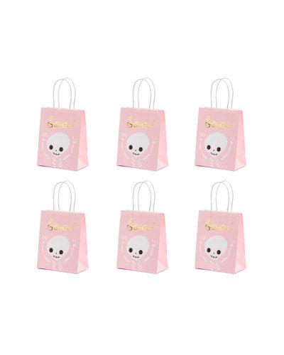 Magicoo 6 Halloween Papiertaschen rosa