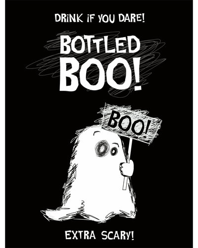 Magicoo 10 Halloween Flaschen-Aufkleber BOO