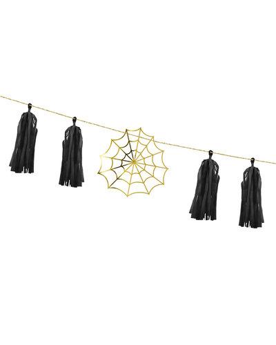 Magicoo Papiergirlande mit Spinnengeweben 1,75m
