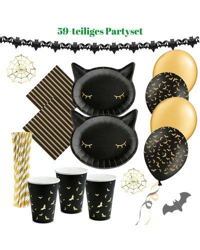 Magicoo Halloween Party Set schwarz gold