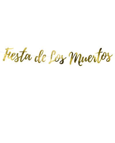 """Magicoo Party Banner gold """"Fiesta de los Muertos"""""""