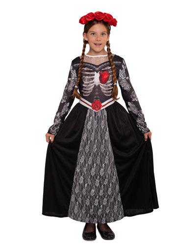 Magicoo Mexikanische Skelett Prinzessin Kostüm