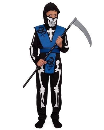 Magicoo Skelett Ninja Kostüm für Kinder