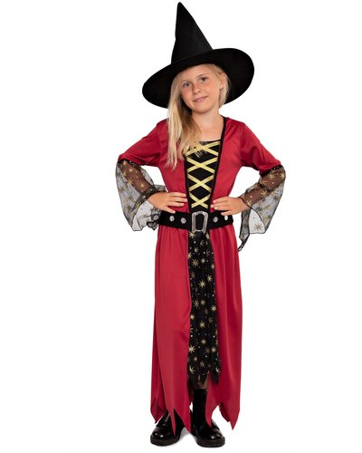 Magicoo Magische Hexe Kostüm für Mädchen