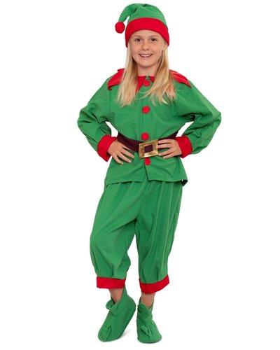 Magicoo Deluxe Weihnachtself Kostüm für Kinder