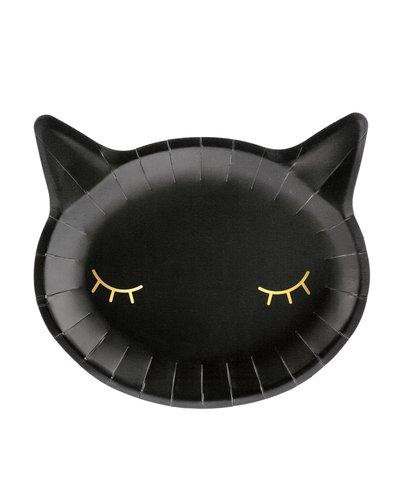 Magicoo 6 Halloween Teller Katze schwarz