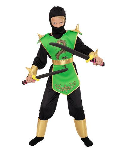 Magicoo Stachel Ninja Kostüm für Kinder - Grün