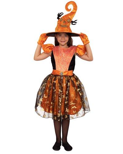 Magicoo Halloween Hexe Kostüm für Mädchen - Orange