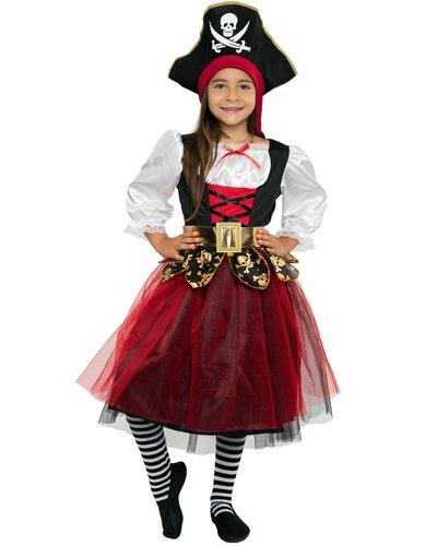 Magicoo Seeräuber Prinzessin - Piratin Kostüm für Mädchen
