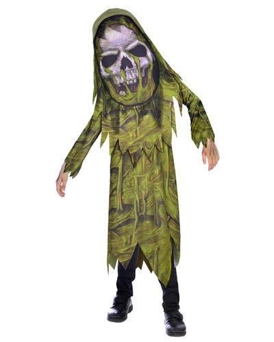 """Magicoo Grünes Zombie Kostüm """"Big Head"""" für Kinder"""