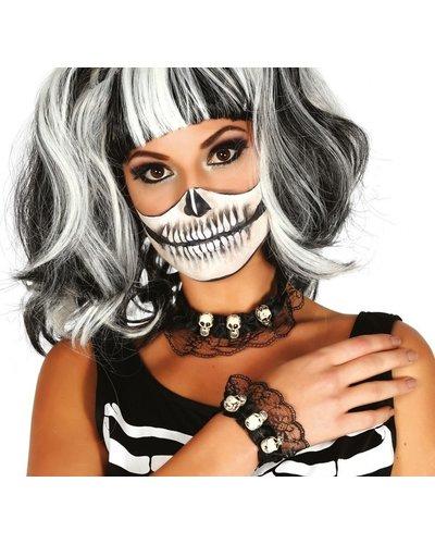 Magicoo Kette & Armband mit Skelettmotiv