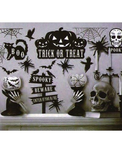 Magicoo Halloween Wanddeko zum Ankleben 70x25 cm