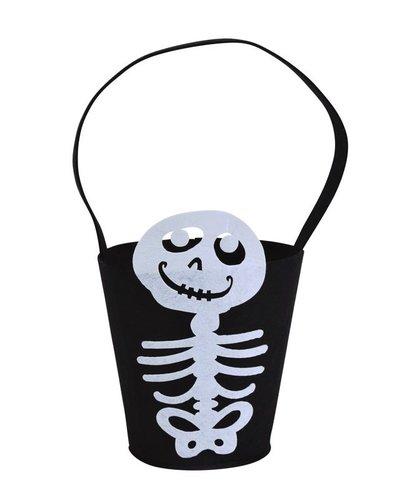 Magicoo Halloween Tasche mit Skelett 14 x 18 cm