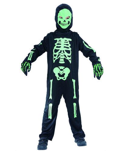 Magicoo Skelett Kinderkostüm schwarz-grün inkl. Maske