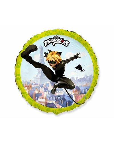 Miraculous Ladybug Folienballon - Cat Noir - gelb