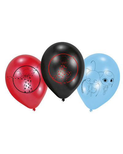 6 Ballons Miraculous Ladybug