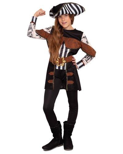 Magicoo Tattoo Piratin Kostüm für Mädchen