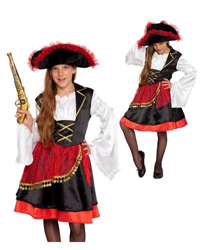 Magicoo Orientalische Piratin Kostüm für Mädchen
