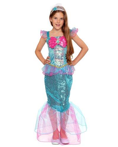 Magicoo Schimmernde Meerjungfrau Kostüm für Kinder